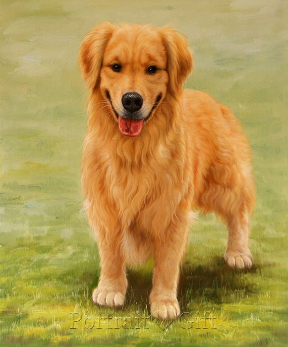 Dog Realistic Oil Portrait