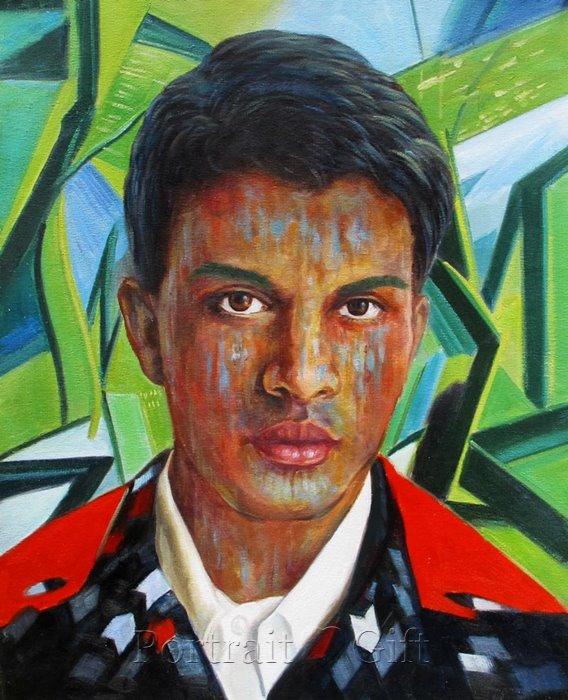 Male Portrait Interpreted by Pop Art