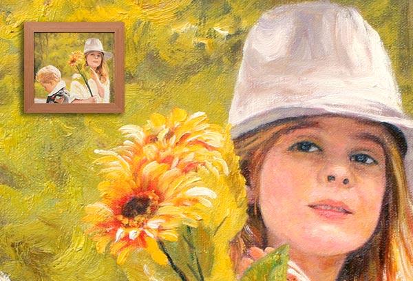 Impressionist Kids Portrait