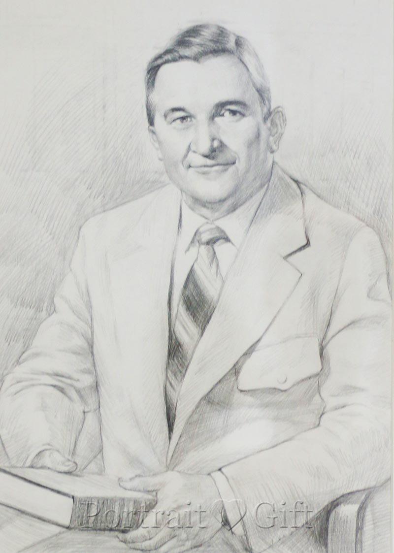 Male Pencil Sketch Portrait